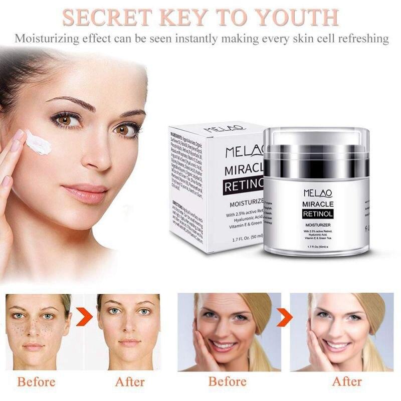 Retinol 2.5% Moisturizer Cream Anti Aging And Reduces Wrinkles And Fine Lines Day And Night Retinol Cream Beauty