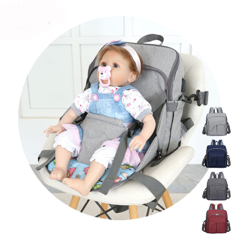 Fashion Mummy Maternity Nursing Diaper Bag Portable Baby Travel Booster Seat Backpack Stroller Baby Care Nappy Backpack