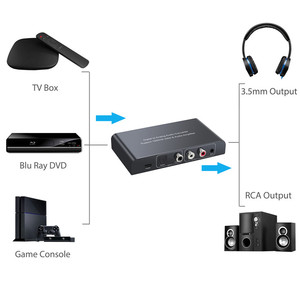 Image 5 - PROZOR Digital to Analog Audio Converter with IR Remote Control Volume 192kHz Coaxial Optical Toslink to L/R RCA 3.5mm Adapter