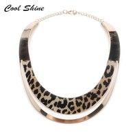 Europe America Big Fashion Personality Leopard Punk Jewelry Metal Torques Choker Women Neck Bib Collar Statement