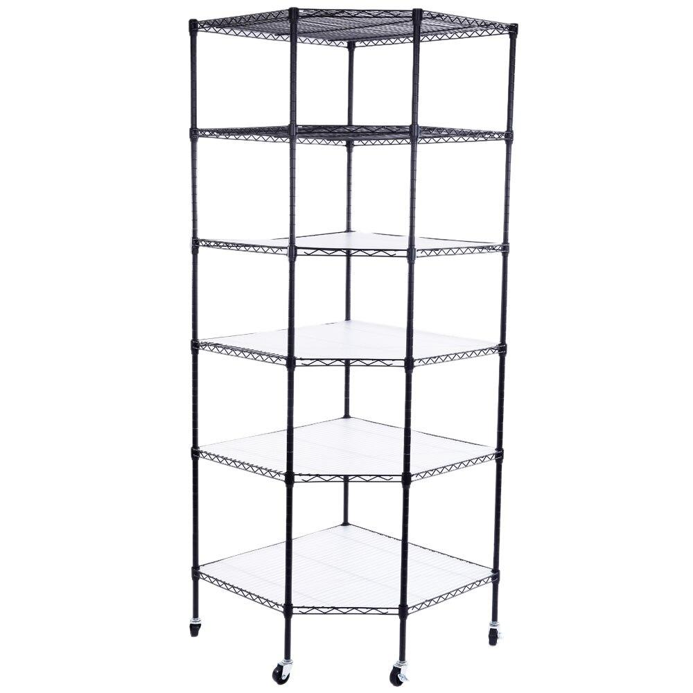 Heavy Duty Storage Rack Wire Shelving 5 Tier Metal Shelf Adjustable Shelf Storag