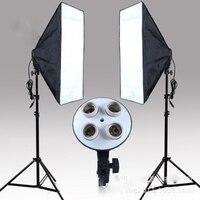 Фотографии свет четыре лампы мягкий свет box Studio комплект фотографического оборудования Штатив для осветительного оборудования для фотосъе