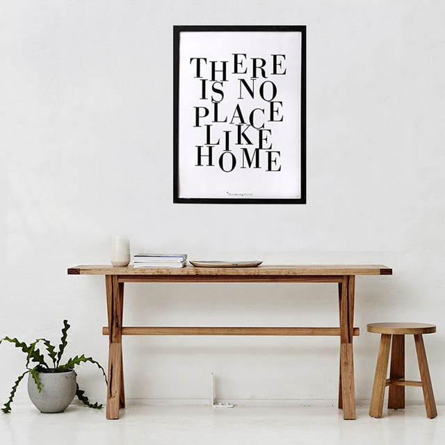 Modern Unique Home There Is No Place Like Home Quotes Canvas