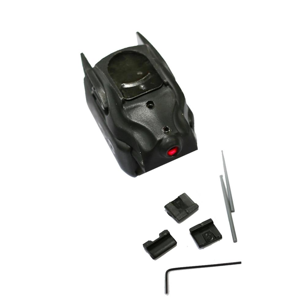 SPINA Tactical Mini Pistol Glock Red Dot Laser Sight Black Polymer For Glock 17 19 Gun Hunting Rifle Airsoft