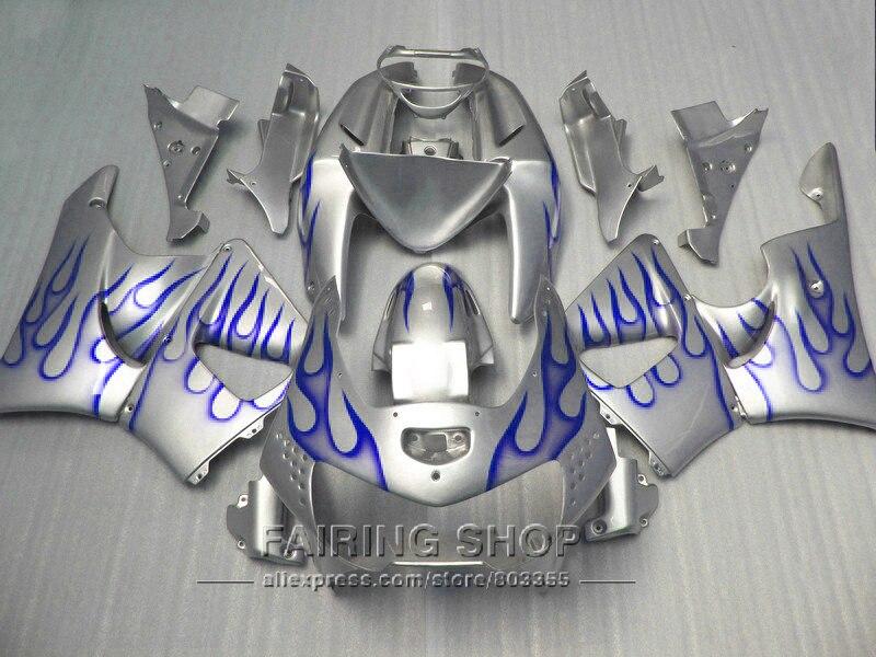 Motorcycle kits For Honda cbr900rr Fairing kit 919 1999 1998 Fairings cbr 900rr 98 99 ( Silver blue ) CN35