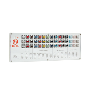 Image 5 - Kailh 45 מפתחות נמוך פרופיל choc מכאני מקלדת מתגי Tester שקוף ברור Keycaps ערכת עבור סמפלר כובעי בדיקות כלי