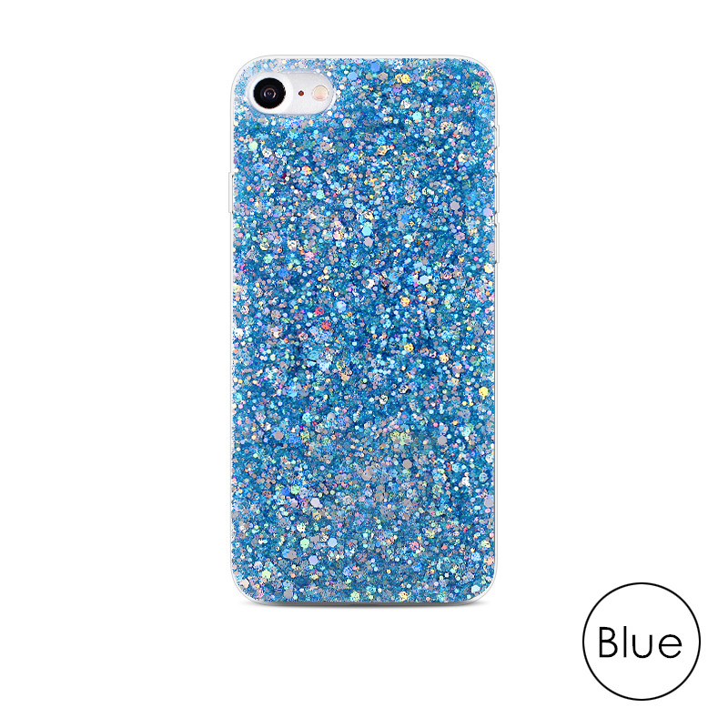 HTB1MSOwadfvK1RjSspoq6zfNpXaO - Gurioo Silicone Bling Glitter Crystal Sequins Hard shell Phone Case For iPhone 11 5 SE 6 6S 7 8 X Plus XR XS Max Protective Case
