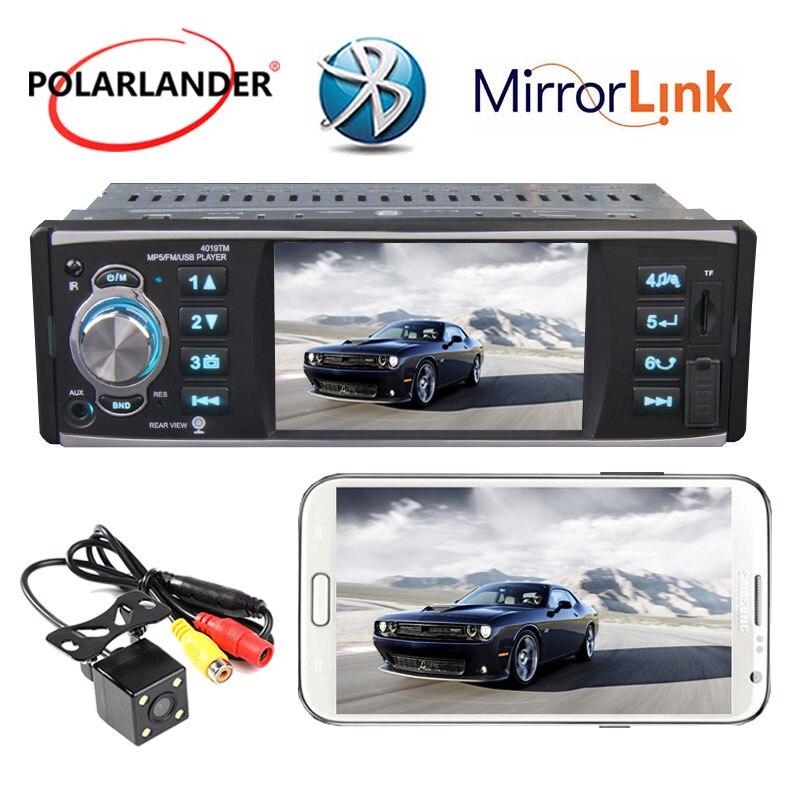Autoradio Bluetooth MP5 Mp5 lecteur doigt écran tactile lien miroir audio stéréo 4 pouces 1 din radio cassette lecteur Autoradio RDS - 6