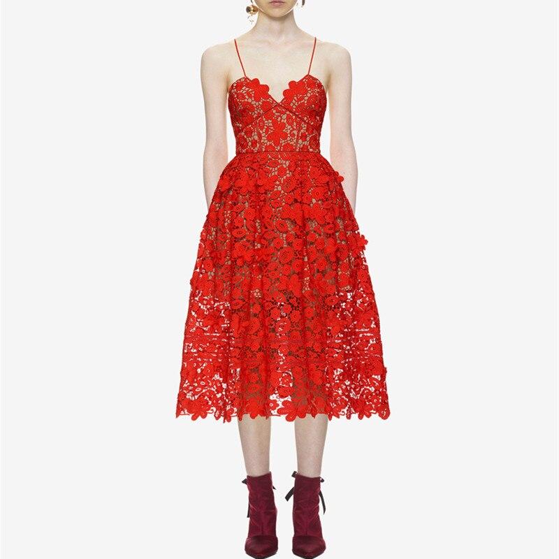 2 3 Crochet Robe Hanzangl D'été Couture Robes De Dentelle Courroie Gaine Creux l m 1 S Femmes Fleur Ybfg6y7