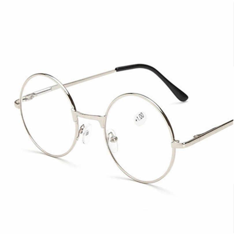 f2c580781 ... Retro Round Mirror Men Women Reading Glasses For Harry Potter Metal  Frame Glasses Male Female Mirror ...