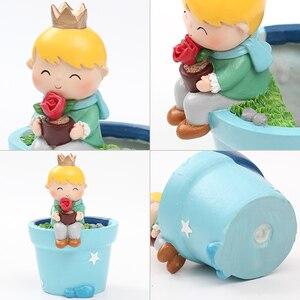 Image 4 - Roogo Cute Prince Succulent Planter Pots Resin Little Boy Flowerpot Bonsai Crafts Home Garden Yard Decor Birthday gifts