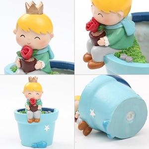 Image 4 - Roogo חמוד נסיך עסיסי סירי עציץ שרף ילד קטן עציץ בונסאי מלאכות בית גן חצר דקור יום הולדת מתנות