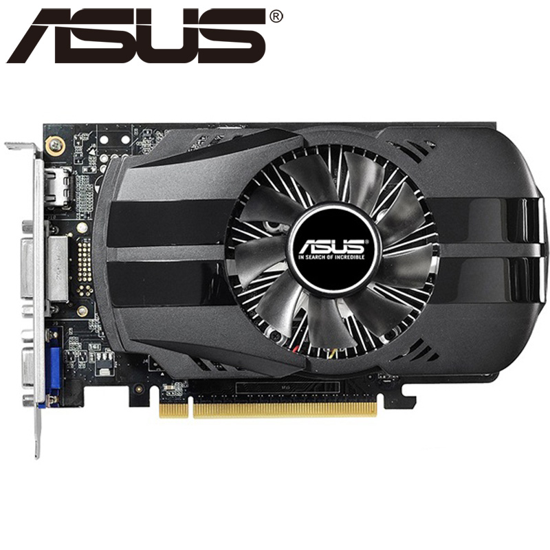 ASUS Video Card Original GTX 750 2GB 128Bit GDDR5 Graphics Cards for nVIDIA VGA Cards Geforce GTX750 Hdmi Dvi Used On Sale asus asus vp228h 21 5 черный dvi hdmi full hd