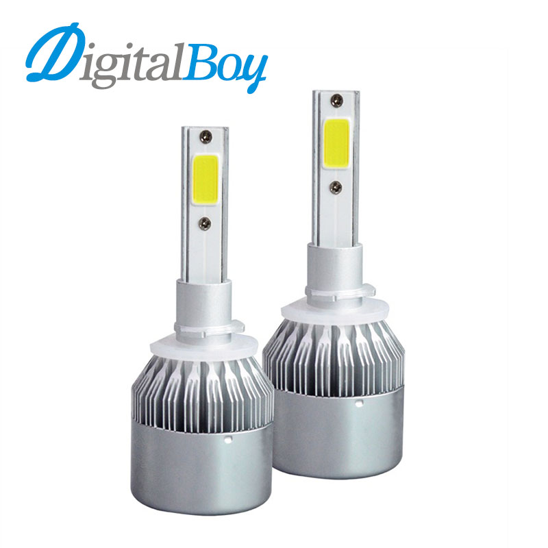 Digitalboy 72W 880 LED Bulbs H27 881 Car Lights Kit 7600LM for Car Headlights Fog Lights Auto Bulbs Replacement 6000K Cold White