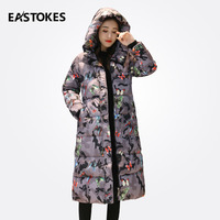 2017 New Winter Women Coats Fashion Pattern Ladies Long Hooded Jackets Slim Cut Women Cotton Down Parkas Ladies Outerwears