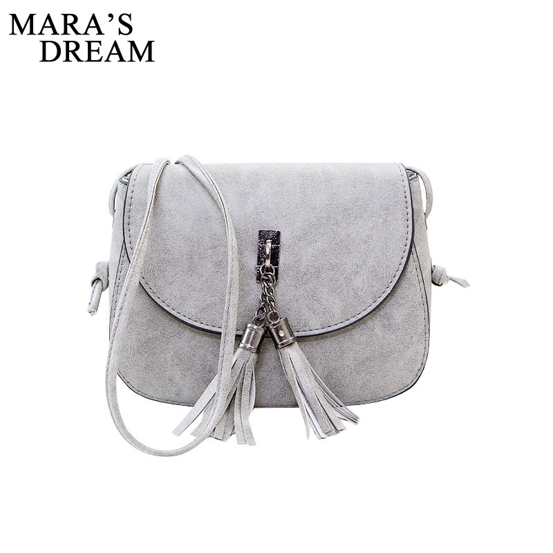 Mara's Dream 2019 Mini Women Messenger Bags Pu Leather Women Shoulder Bag Tassel Solid Clutches Chain Women Crossbody Bags Tote