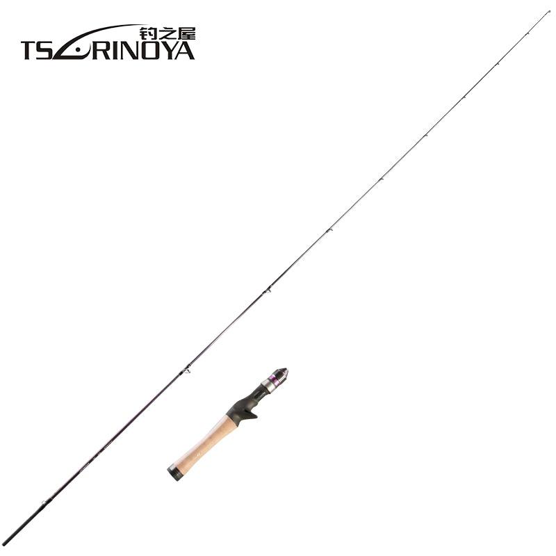 TSURINOYA 2Secs 1 4m Baitcasting Fishing Rod EX UL Slow 1 6g Solid Tip Cork Handle