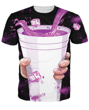 Summer Women Men Purple Drank T-Shirt Sexy tee vibrant t shirt hip-hop dirty sprite 3d tees femme homem camiseta Plus S-5XL R807