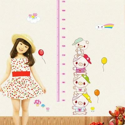 Детские размеры Ростомер рост ребенка измерения высота линейка настенная бумага Милая мультяшная Наклейка на стену - Цвет: J