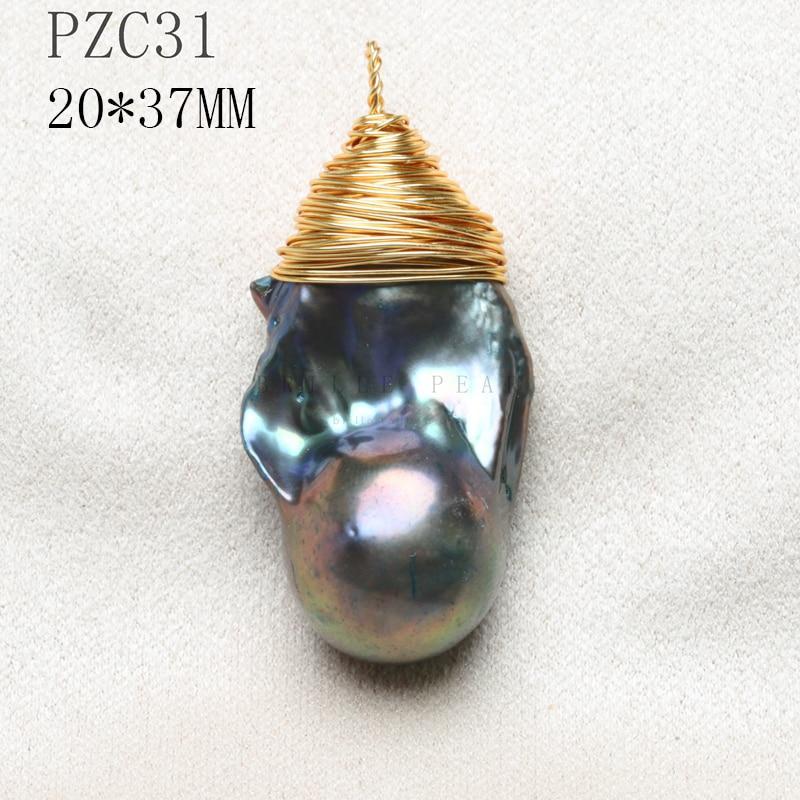 14 K Goldene Draht Hand Made Unregelmäßige Natürliche Perle Anhänger Buddha Anhänger Riesige Größe Grün Stein Tiefe Farbe Halskette Rutsche Vintage SchnäPpchenverkauf Zum Jahresende