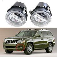 10W Cree Chip Fog Lights Lamps Replacement For Jeep Grand Cherokee 2005 2006 2007 2008 2009 2010 Led DRL Daylight With Halo Ring