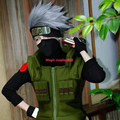 Japan Anime Naruto Hatake Kakashi Cosplay Wig 35CM Short Silver White Synthetic Wigs Anime Straight Men Costume Party Hair