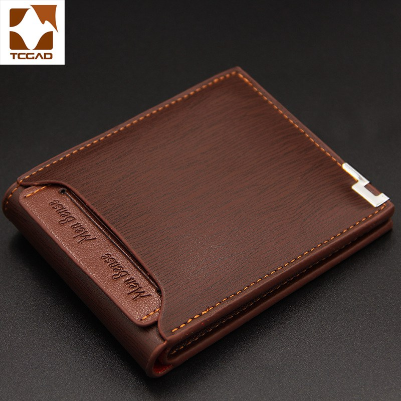 Men's Wallet PU Leather Slim Small Men Wallets Porte Feuille Homme Purse Billeteras Para Hombre Made Of Leather Short Card Holde