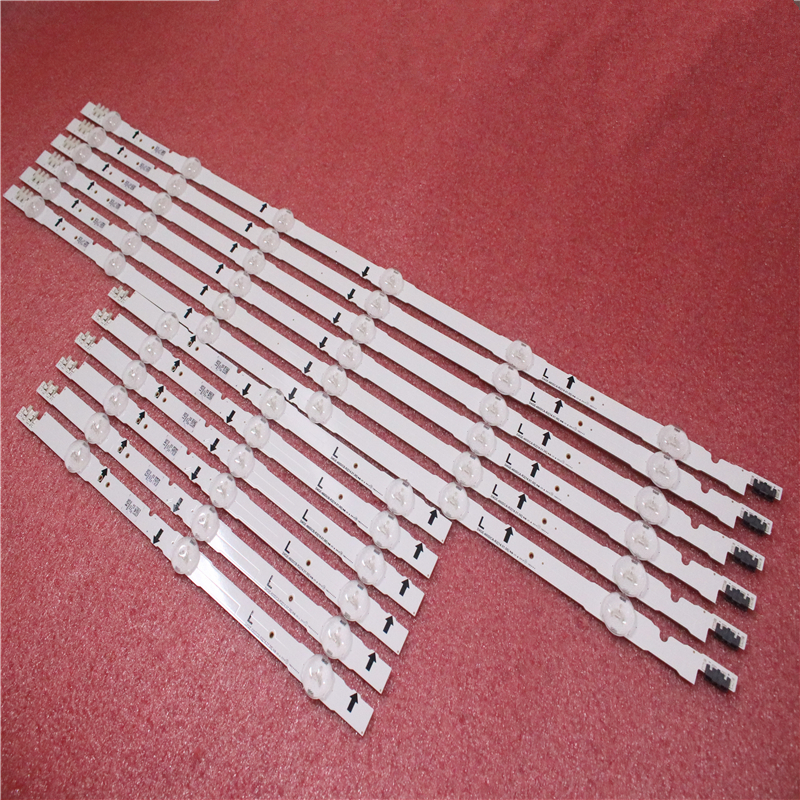 (New Kit)12 PCS LED Backlight Strip D4GE-480DCA-R2 D4GE-480DCB-R2 For SAMSUNG 48inch TV UE48H6470 2014SVS48F 3228 R03 L06