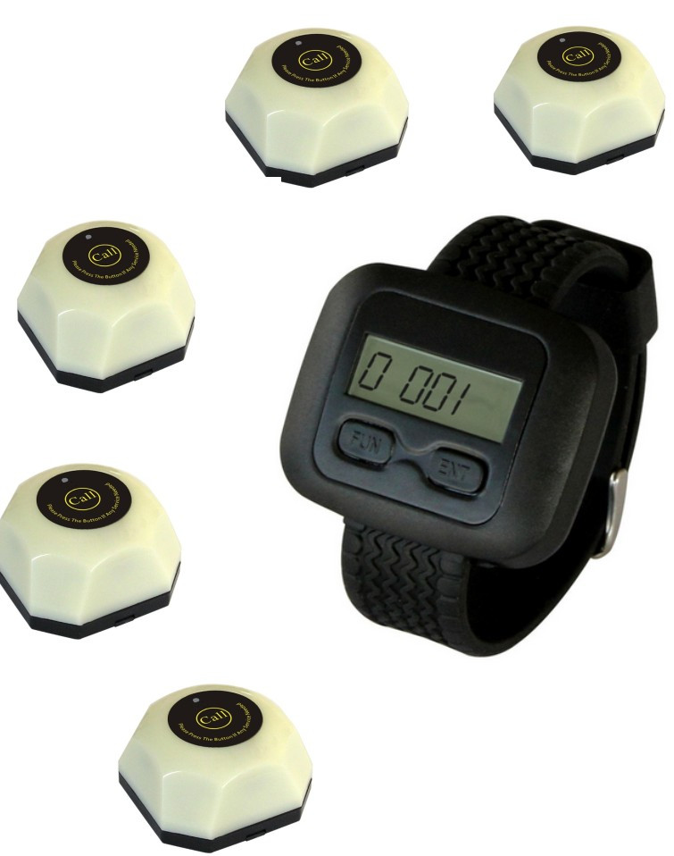 Restaurant wireless call, white call bell+watch pager, watch buzzer, waiter call system,electronic wireless nursing pagerRestaurant wireless call, white call bell+watch pager, watch buzzer, waiter call system,electronic wireless nursing pager
