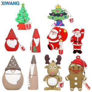 USB Flash Drive 64GB Pen drive 128GB 32GB 16GB 8GB 4GB USB Flash Memory Stick mini snowman Christmas tree Santa Claus best gift
