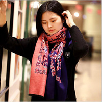 Fashion Ethnic Styling Cotton Soft Warm Long Ladies Scarves and Pashmina High Quality Cappa for Women and Girls