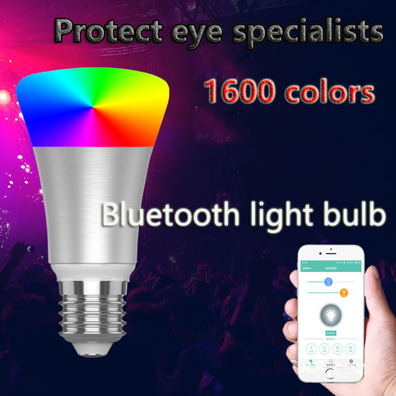Intelligent RGB Led Bulb Led Bluetooth Smart Bulb Mobile App Control Dimming Color Music Colorful Lights