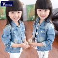 2016 children's clothing girls Korean children casual denim jacket coat new girls denim jacket in children
