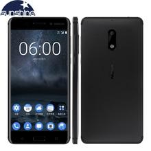 2017 Оригинал Nokia 6 4 г LTE мобильный телефон Android 7.0 Octa Core 5.5 «16.0 Мп 4 г Оперативная память 32 г/64 г Встроенная память Dual SIM отпечатков пальцев Смартфон