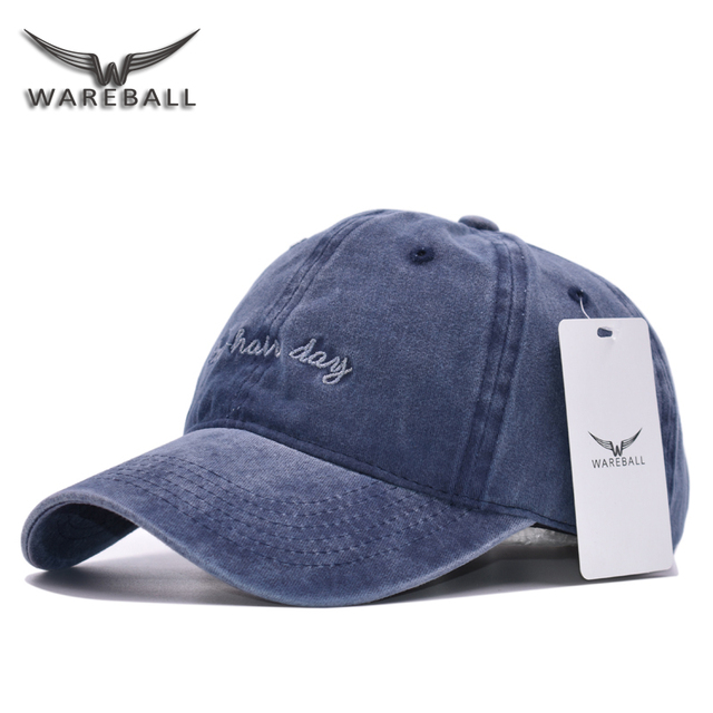 WAREBALL New Brand Retro Baseball Cap Cotton Solid Color Vintage Casual Hat  Snapback Adjustable Baseball Caps For Adult c8877e240c5