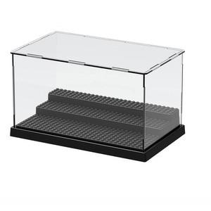 Image 3 - 2019 uyumlu akrilik plastik aksiyon figürleri vitrin kutusu toz geçirmez ekran kutusu loz yapı taşları tuğla oyuncaklar