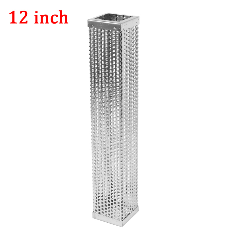 6/12 Inch Stainless Steel Square/Round Pellet Tube Smoker Pipe For Beans BBQ