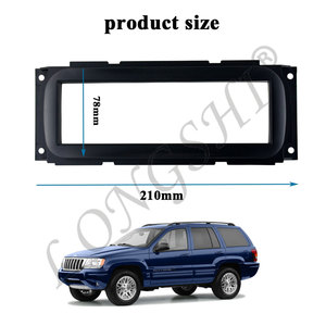 Автомобильная установка DVD рамка панель фасции аудио рамка для Jeep Grand Cherokee 99-04 (WJ) Chrysler 300M Caravan 01-07 Neon Voyager 1DIN