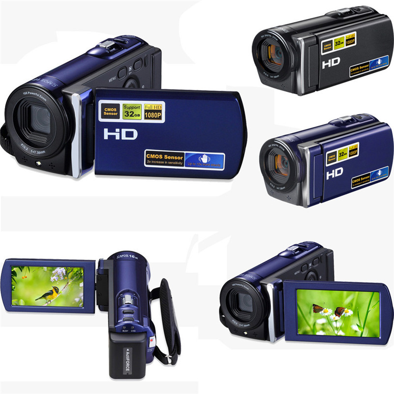 HDV-601S 1080P 16MP Digital Camera DV Video Recorder Mini DV Camcorder with 3.0 TFT LCD Display 16x Digital Zoom
