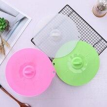 1 шт. силиконовая крышка-непроливайка/Защитная крышка/крышка сковороды/печь безопасна вместо пластиковой обертывания