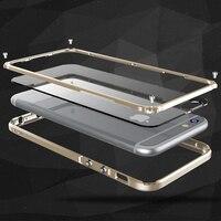 Aluminium Butoir En Métal Pour Apple iPhone 6 Couverture Plus Transparent PC Caméra Housse De Protection Pare-chocs Pour Apple iPhone 6 S Couverture Plus