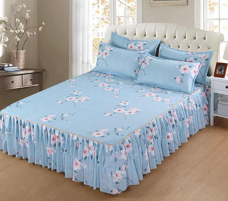 3pcs Bedding Set Modern Fashion Bedspread Home Textile Bedding Soft Bed Skirt 120x200cm/180x200cm Including Pillowcase