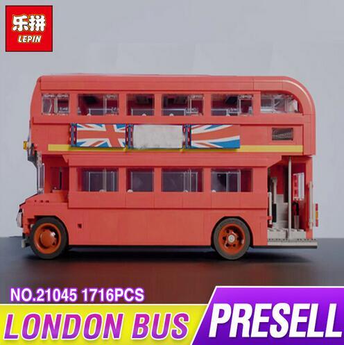 Lepin 21045 1716Pcs Genuine Technic Series The London Bus Set Building Blocks Bricks Children Educational Toys Model Gifts 10258 серьги с кошачьим глазом лель снкг 1716