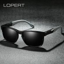 цена на LOPERT TR90 Polarized Summer Sunglasses Men Reflective Coating Square Sun Glasses Women Brand Design Mirrored Oculos De Sol With