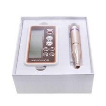 Цифровая интеллектуальная машина для тату, электропитание, комплект с винтом и иглой, Перманентный макияж, карандаш для бровей, губ, микроблейдинг, швейцарский мотор, набор