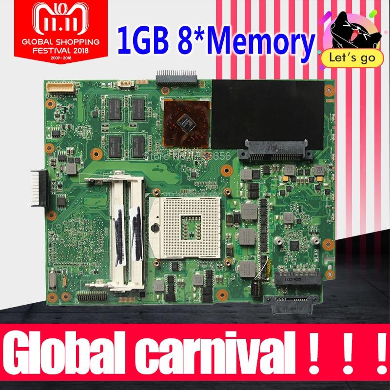 K52JR Carte Mère 1 gb REV: 2.0 Pour ASUS X52J K52JT K52JC K52JU K52JK Mère d'ordinateur portable K52JR Carte Mère K52JR Carte Mère test ok
