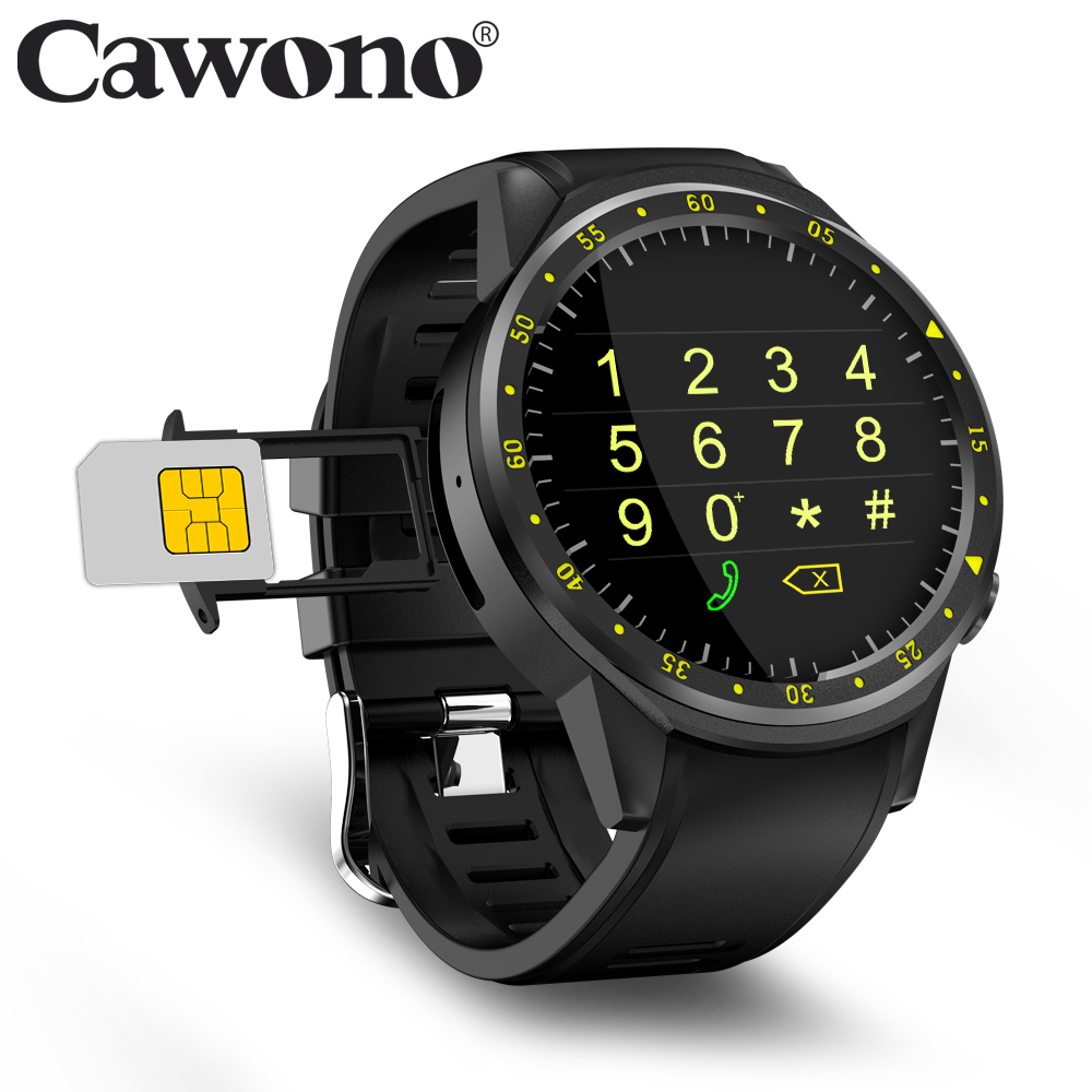 цена Cawono CN1 GPS Sport Smart Watch with Camera Altimeter Smartwatch Support Sim Card Heart Rate Wristwatch for IOS Android Phones онлайн в 2017 году