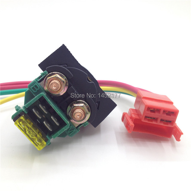Yecnecty 1 Set Motorcycle Starter Solenoid Relay With Connector