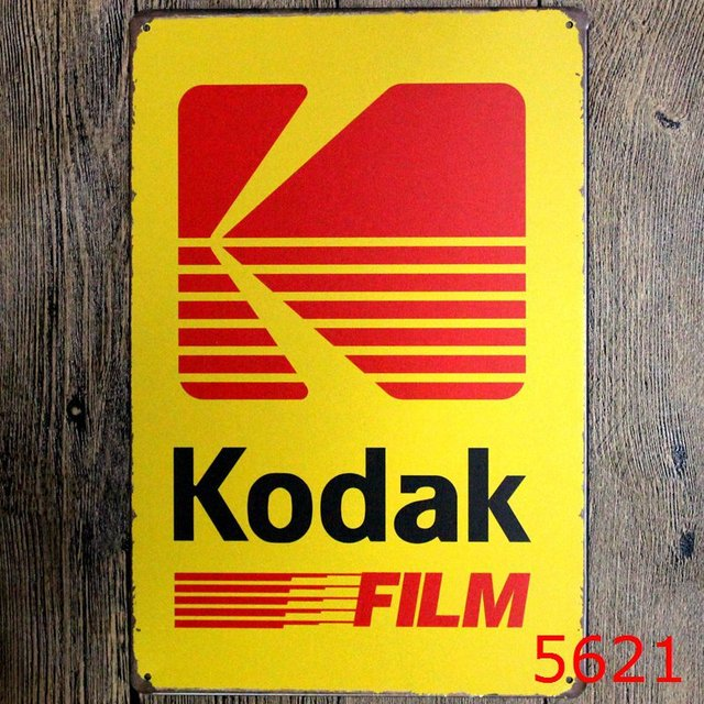 Kodak Film Vintage Metal Signs Tin Plate Sign Wall Decoration for ...