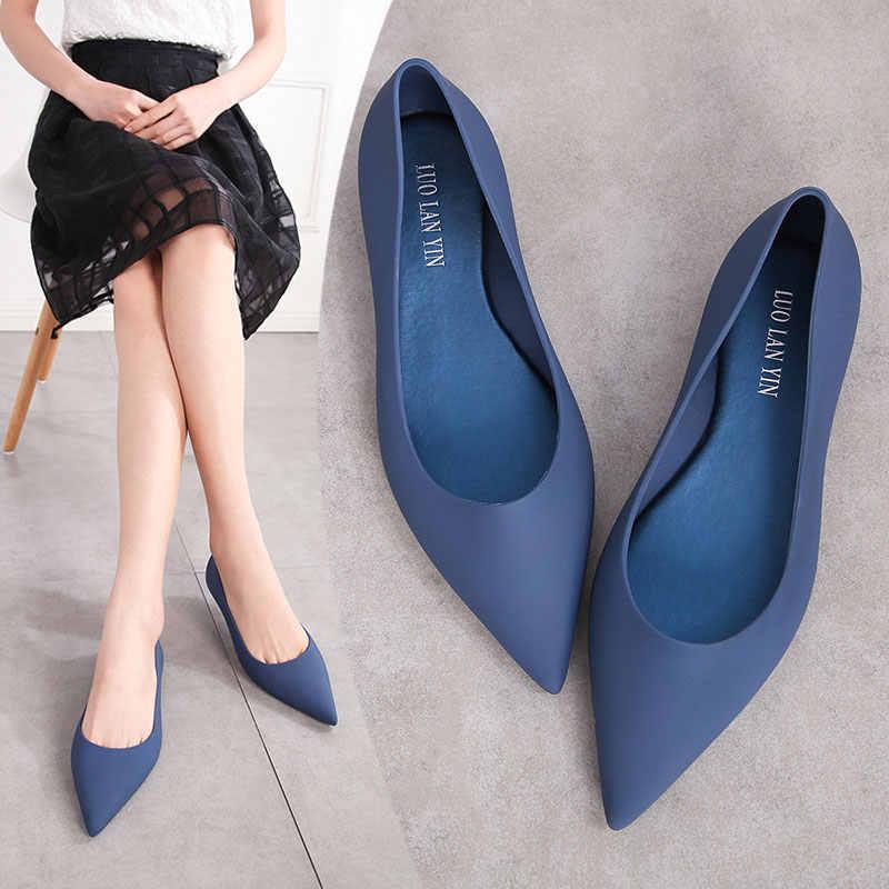 EOEODOIT Для женщин прозрачная обувь песчаный пляж мягкие короткие сандалии плоская подошва, с острым носком, слипоны Для женщин Весна Туфли без каблуков обувь для дождя